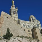 The Basilica Notre-Dame de la Garde, perched on the highest hill in Marseille