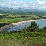 Walking the Llyn Coastal Path above Llanbedrog in North West Wales