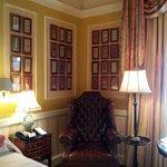 My guestroom - paneling, artwork, great fabrics!