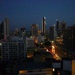Aussicht von der Dachterasse auf Panama City