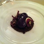 patè con gelatina alla trevigiana su crumble di cioccolato