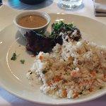Zenzero-Fillet mit Reis (den ich selbst so unschön aufgeschüttet habe)