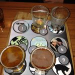 The beer sampler.  Numbered so you can tell what you are sampling.