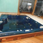 Vasca idromassaggio nella SPA dell'hotel