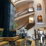 Hotel lobby and stairs