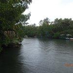 Lagune direkt vor dem Hotel
