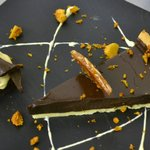Chocolate Tart with Honeycomb and Almond Brittle