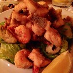 Seafood mix. Rather bland. Meat next time.