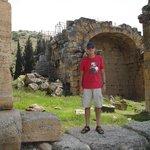 Hierapolis' ruins near Pamukkale in Turkey