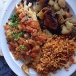 Sautéed tilapia, Cajun rice, potatoes - as seen on TV!  Delicious