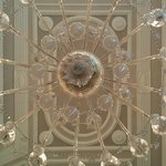 chandelier in the lobby