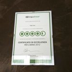 Non mi stupisce il certificato d'eccellenza!
