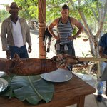 Delicious Roasted Pig, slowly roasted for 4 hours!!!!