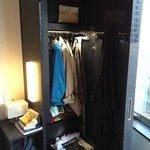 The wardrobe/closet.