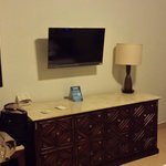 TV and counter (minibar in the unit)