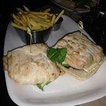 Sandwich mit Camembert und Feige