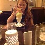 Enjoying the lovely desserts!