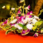 Flowers on dinning table