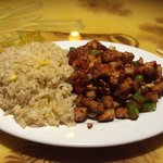 Kung Po chicken with fried rice from the lunch menu