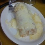 Chicken burrito with cheese