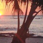 Sunset at Playa Tamarindo (5 min walk)