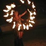 Fire dancers on beach (Free)