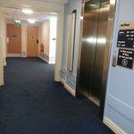 Lift and hallway