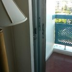 Balcony door stuck