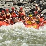 Rafting the Shoshone rapids of Colorado River