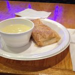 Chicken lemon rice soup and spinach pie