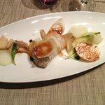 Salade de Canard, purée de chou rave