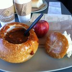 Soup in bread, original and good
