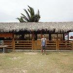 The beachfront bar