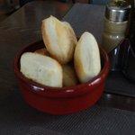 Fresh hot bread that accompanied the salad