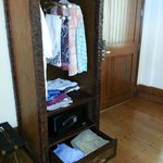 Too little closet and drawer space. Cute hangars