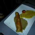 Croustillant de crabe, quinoa et crème de curry*