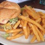 Brickhouse Burger with the house sauce