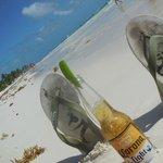 une bonne bière sur la plage