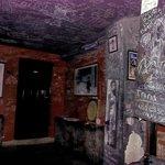 Grafitti on the walls upstairs at El Chanchullero