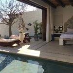 luxury beachfront villa! master view.