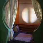 Keyhole bedroom.