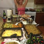 A Thanksgiving Feast in the main house with Carleen as hostess