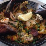 Palleado with overcooked mussels