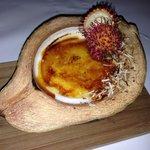 Delicious coconut crème brûlée