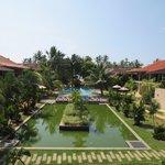 Hotelanlage von der Ayurveda-Lounge