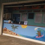 Shave ice stand at Princeville shopping center