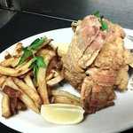 fried lobster tails and dill french fries