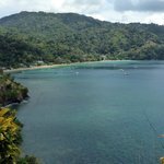 Pirate's Bay - road back to Charlotteville