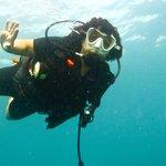 Gruß von Roswitha unter Wasser