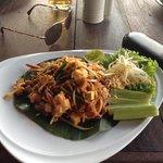 pad thai at the restaurant